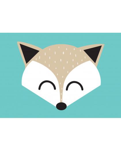 Lámina Fox Feliz