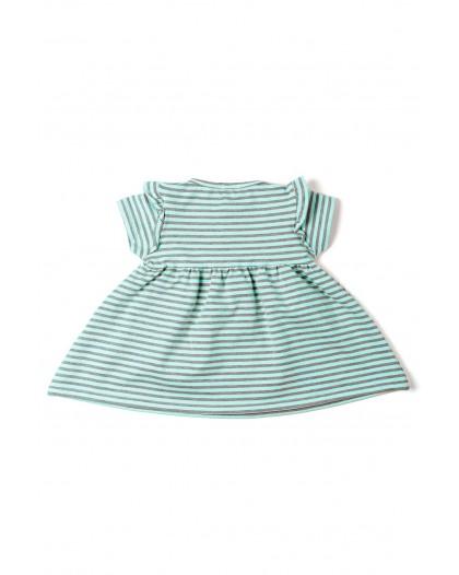 Vestido rayas verde