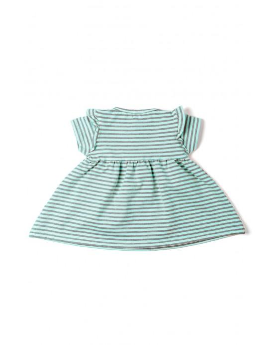 Striped mint dress