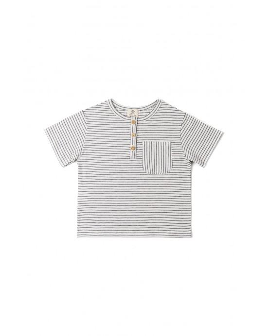 stripes pocket tshirt