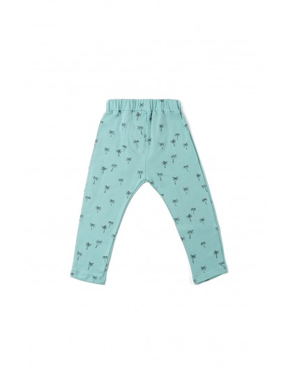 Mint palm tree leggings