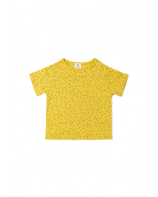 Camiseta Topitos ocre