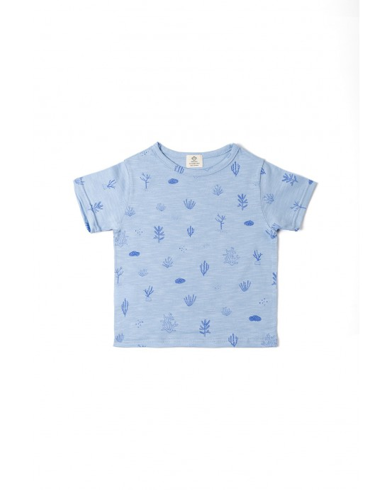 T-shirt seaweed blue