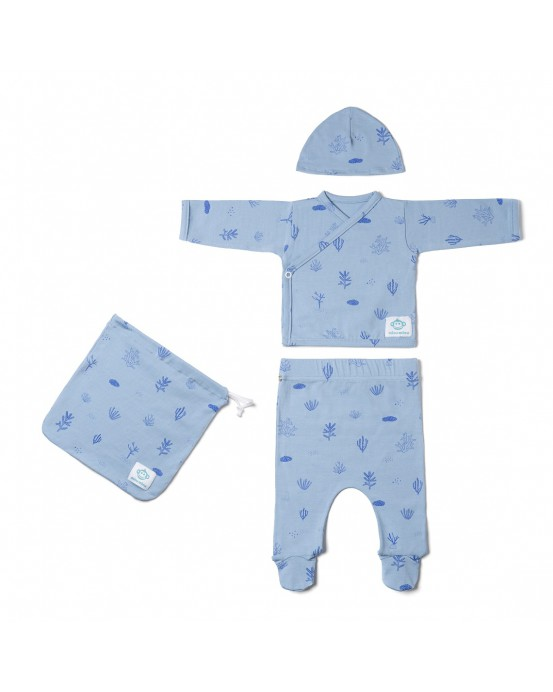 Newborn pack seaweed blue