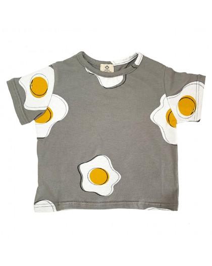 Camiseta huevos gris