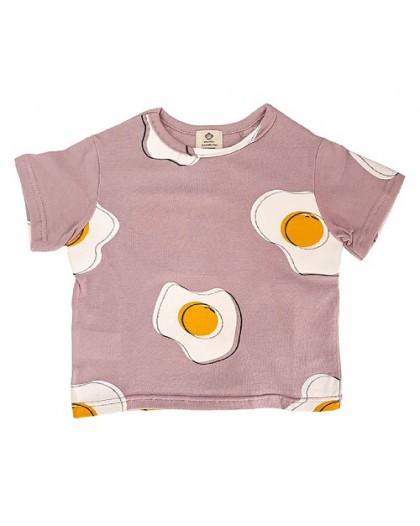 camiseta huevos rosa