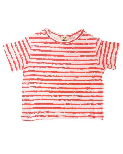 camiseta rayas salmón