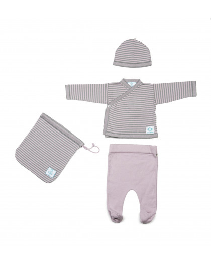 Newborn Pack Pink-Dark Grey