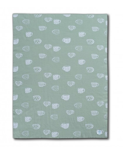 cup mint baby blanket