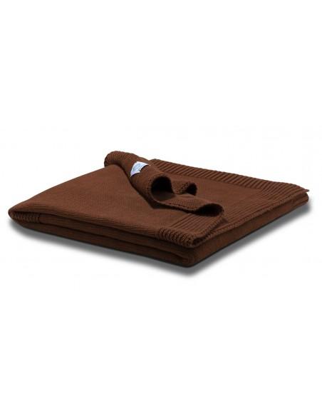 Manta plegada Micu micu lisa chocolate