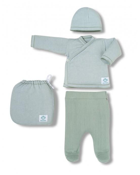 Multi stripes newborn pack mint