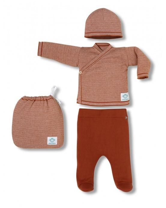 Multi stripes newborn pack orange
