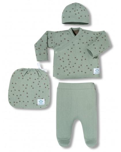 Dots mint newborn pack