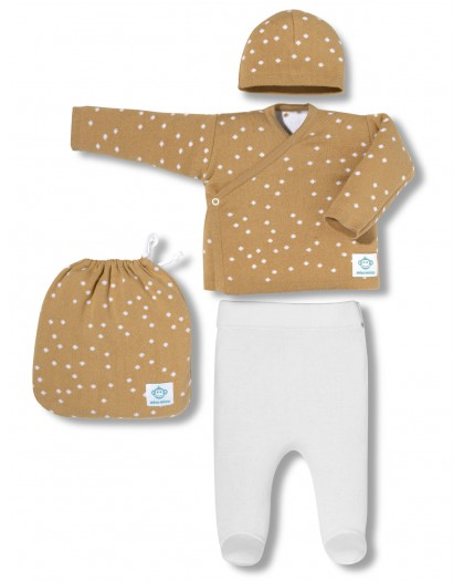 Dots beig newborn pack