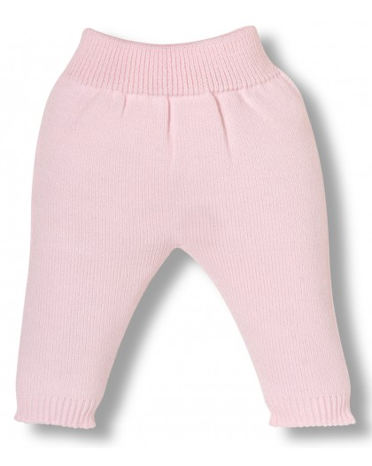 pink knitwear newborn pants