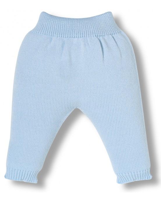 Blue knitwear newborn pants