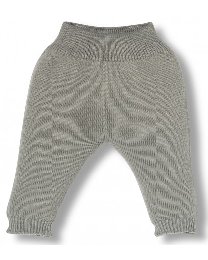 grey knitwear newborn pants
