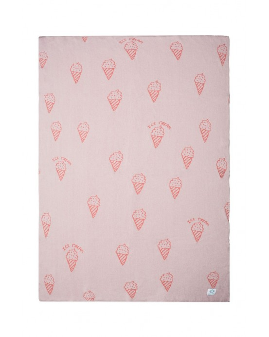 Baby blanket pink ice cream