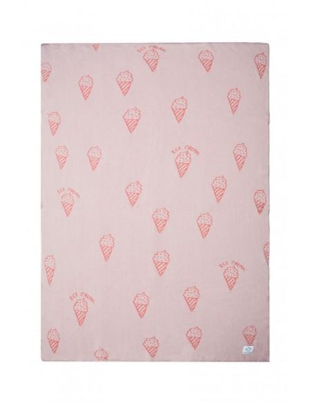 Manta bebé helados rosa y fucsia