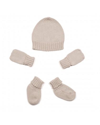 micumoicu - Conjunto de gorro,manoplas y calcetines gris claro