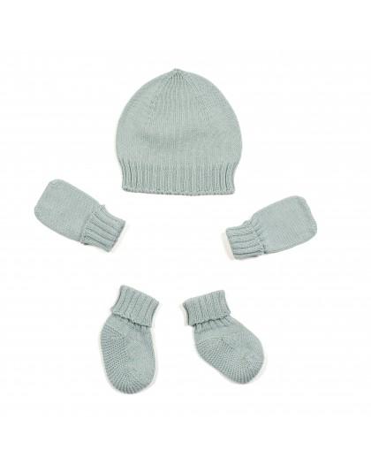 micumicu - Conjunto de gorro, manoplas y calcetines mint