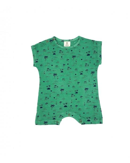 onesie palmtree green