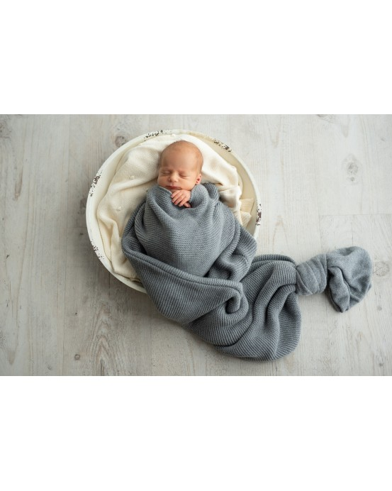 Grey knitted sack
