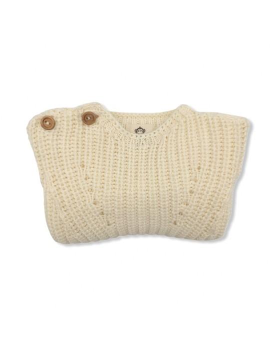 Raw pearl knit sweater
