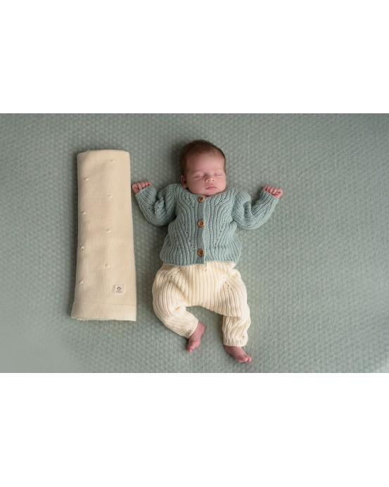 Set of jacket mint and pants 3-6months