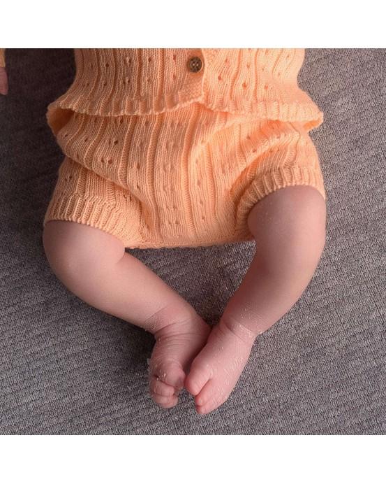 Salmon knitwear shorts
