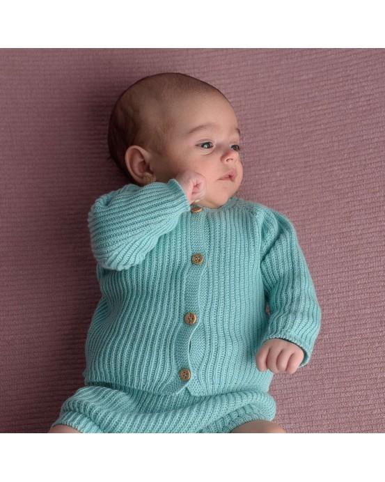 Mint summer knit jacket