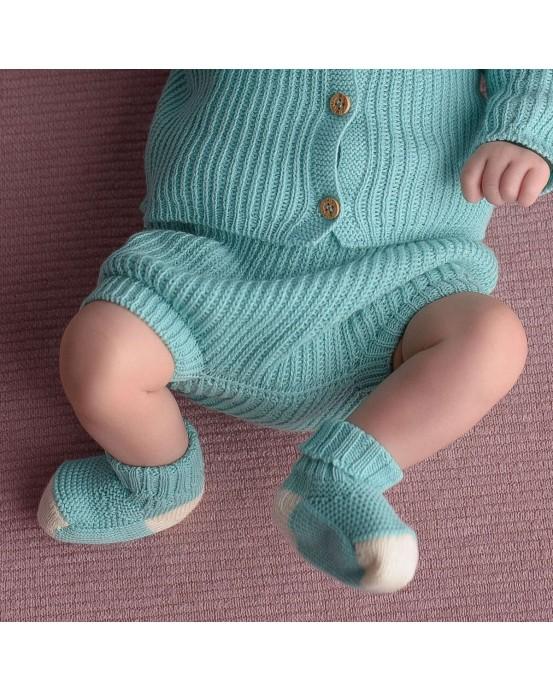 micu micu - Shorts bebe perlados mint