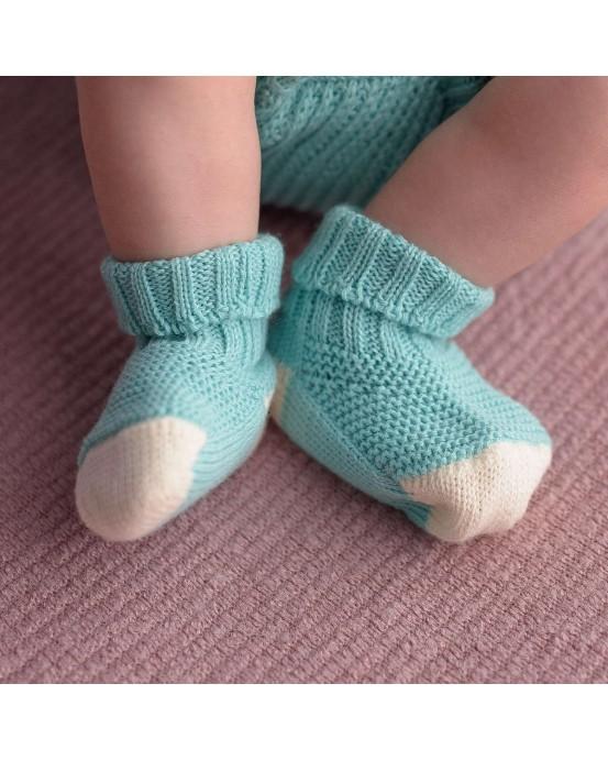 Mint baby sock
