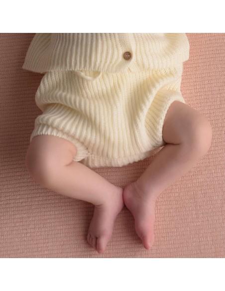micu micu - Shorts bebe perlado crudo