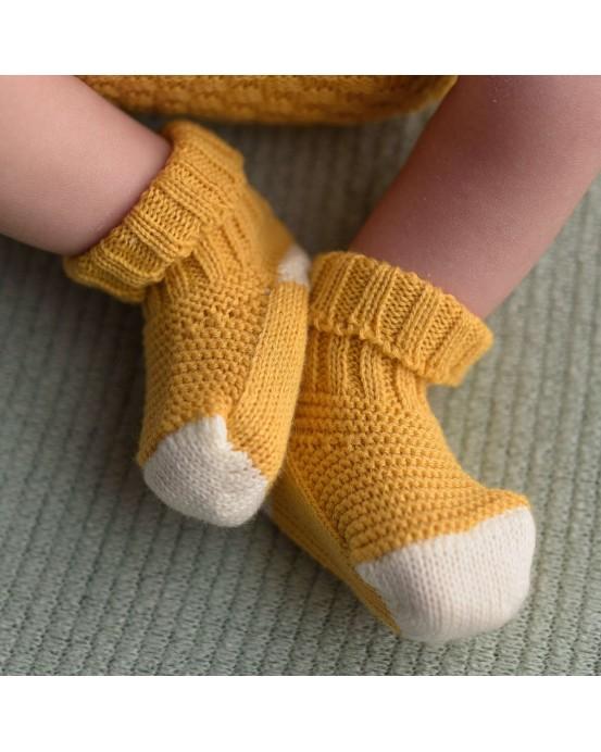 micu micu - Calcetines bebé ocre-crudo