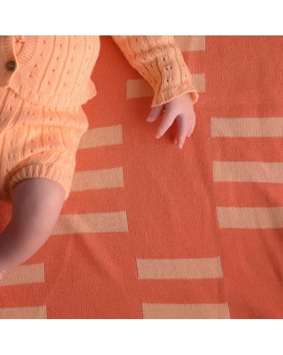 salmon rectangles baby blanket