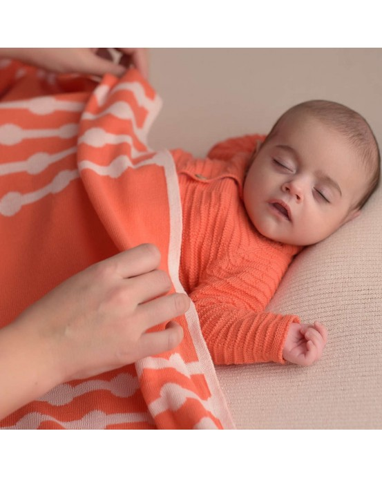 Coral bubbles baby blanket
