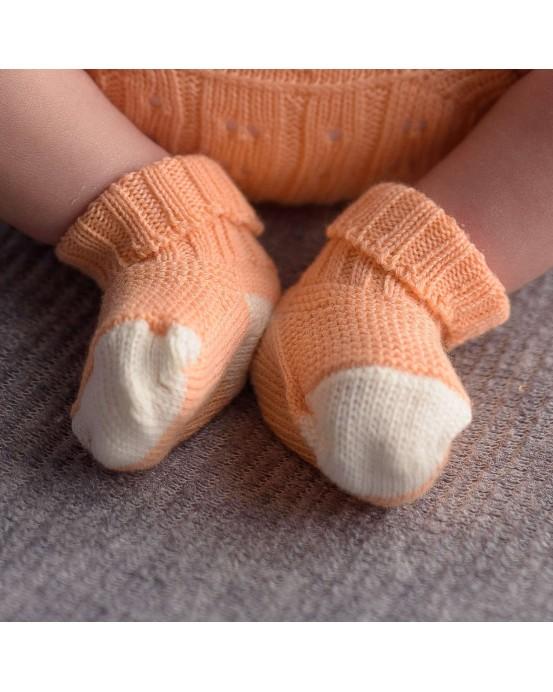 micu micu - Calcetines bebé salmón-crudo