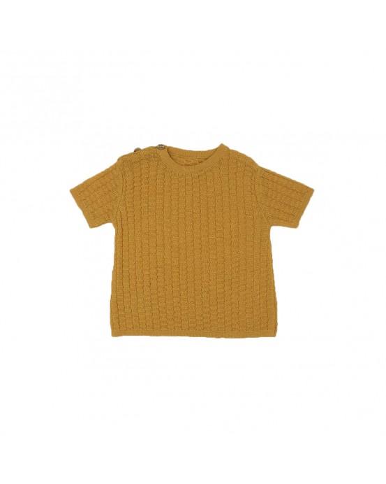 Camiseta rectangulos ocre