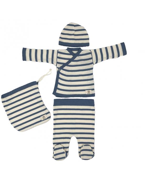 Multi stripes newborn pack jeans