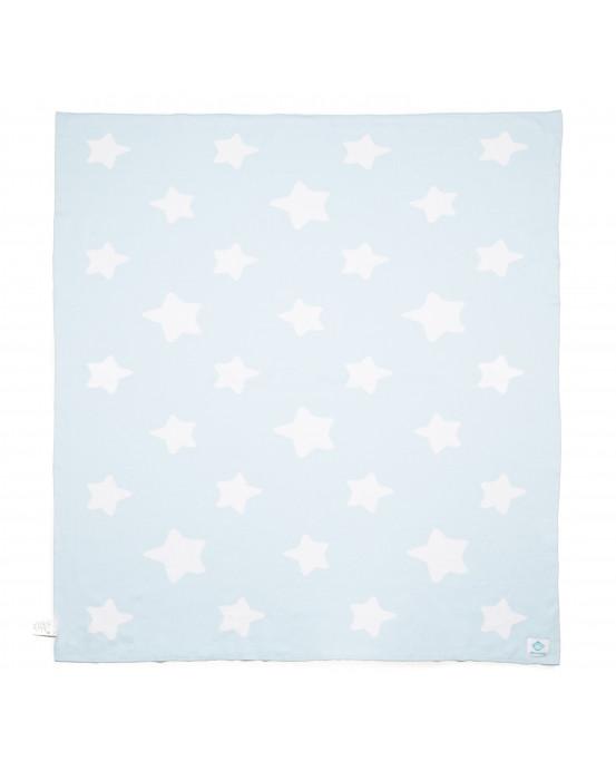 Manta bebé Estrellas Celeste