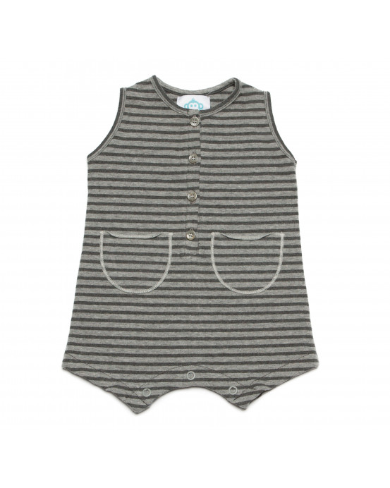 Onesie Striped Grey Charcoal
