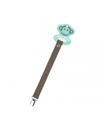 Pacifier Clip Topitos-Brown