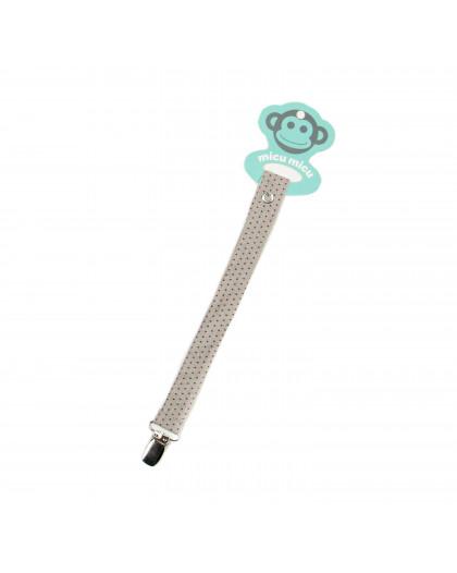 Pacifier Clip Topitos-Beige