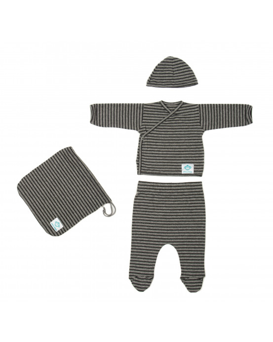 Newborn Pack Striped Dark Grey