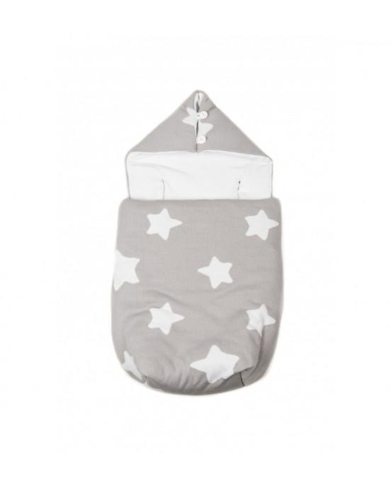 Knitted Baby Sack Dark Grey-White