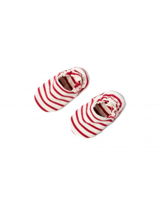 Mini Shoes Rayas Rojo-Crudo