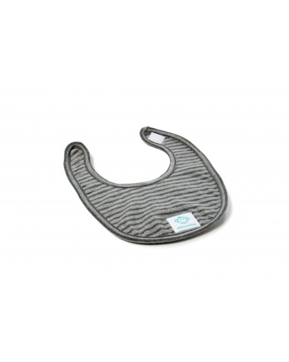 Small Baby Bib Dark Grey