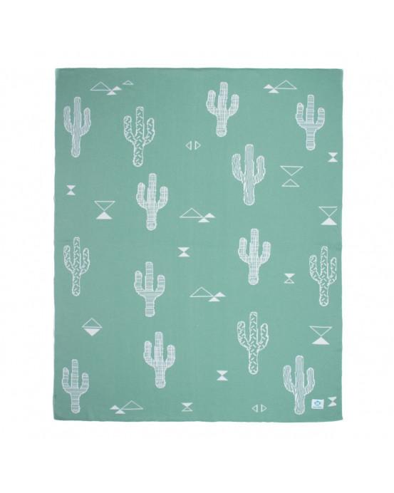 Manta bebé Cactus Mint