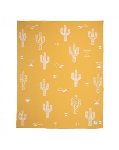 Manta bebé Cactus Ocre